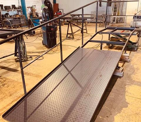 Fabrication d'une rampe d'accès